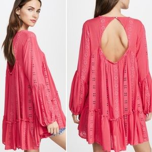 FREE PEOPLE Kiss KISS Sweetest Dreams Pink Tunic